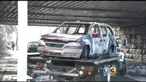 burned out van